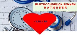 Bluthochdruck senken Ratgeber